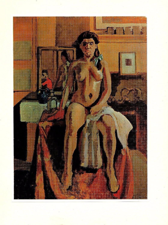 """1973 Vintage HENRI MATISSE /""""CARMELINA/"""" GORGEOUS PORTRAIT COLOR offset Lithograph"""