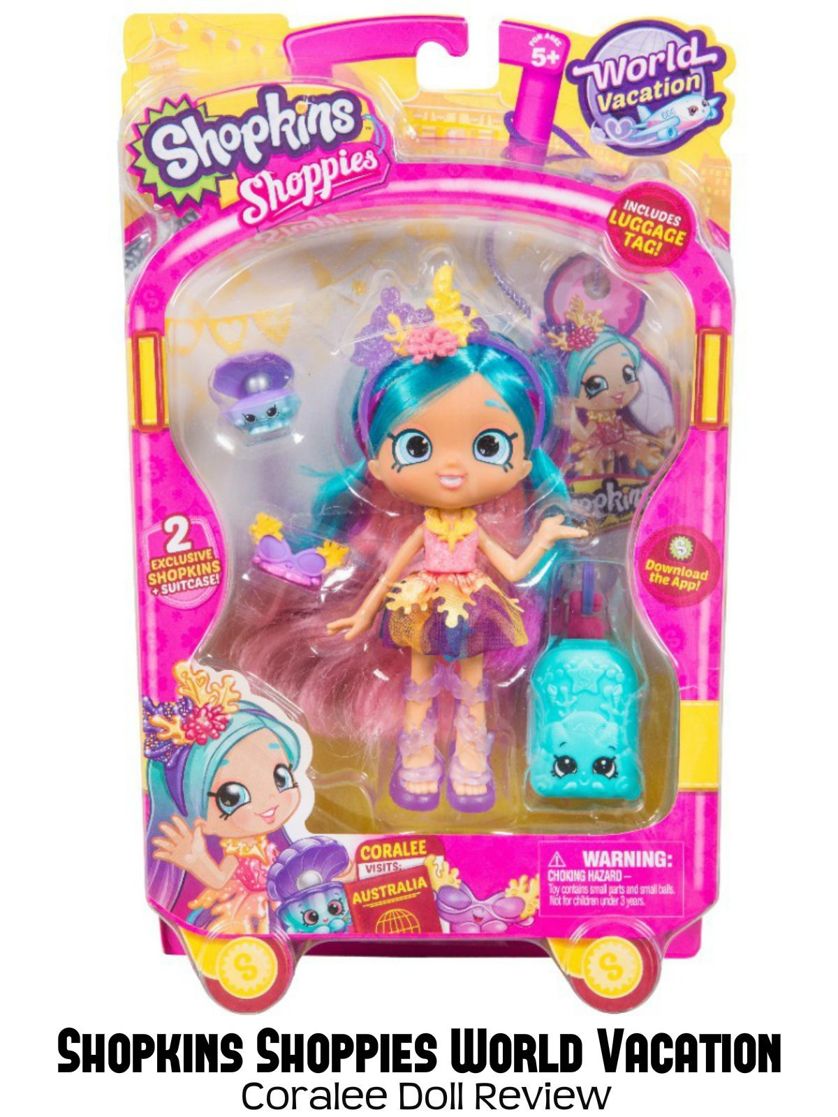Amazon.de: Review: Shopkins Shoppies World Vacation Coralee Doll ...
