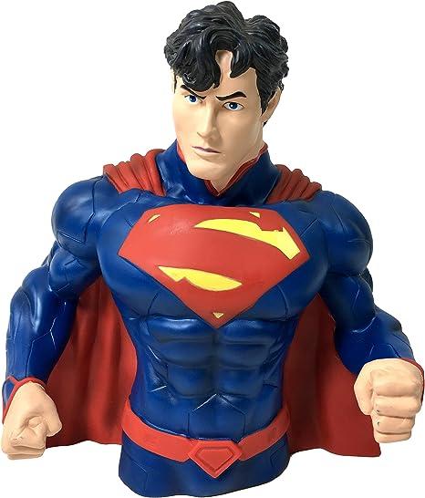"NEW DC Comics 8/"" Superman PVC Bust Coin Bank 3D Toy Figure Piggy Bank Great Gift"