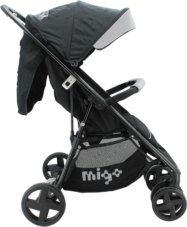 poussette b/éb/é maniable d/ès 6 mois avec couvre-jambes Noir facile /à plier Poussette canne l/ég/ère et compacte