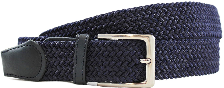 Komfortabel Elastische Geflochtener Stretch Gürtel - Stretchbelt - Stoffgürtel - Flecht mit pu Leder für Damen und Herren Elastico