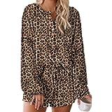 Cyenaly Tie Dye Pajama Set Women Long Sleeve Loungewear Set Sleepwear for Women Pajama Sets S-2XL