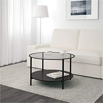 Amazon Com Ikea Vittsjo Coffee Table Black Brown Glass Kitchen
