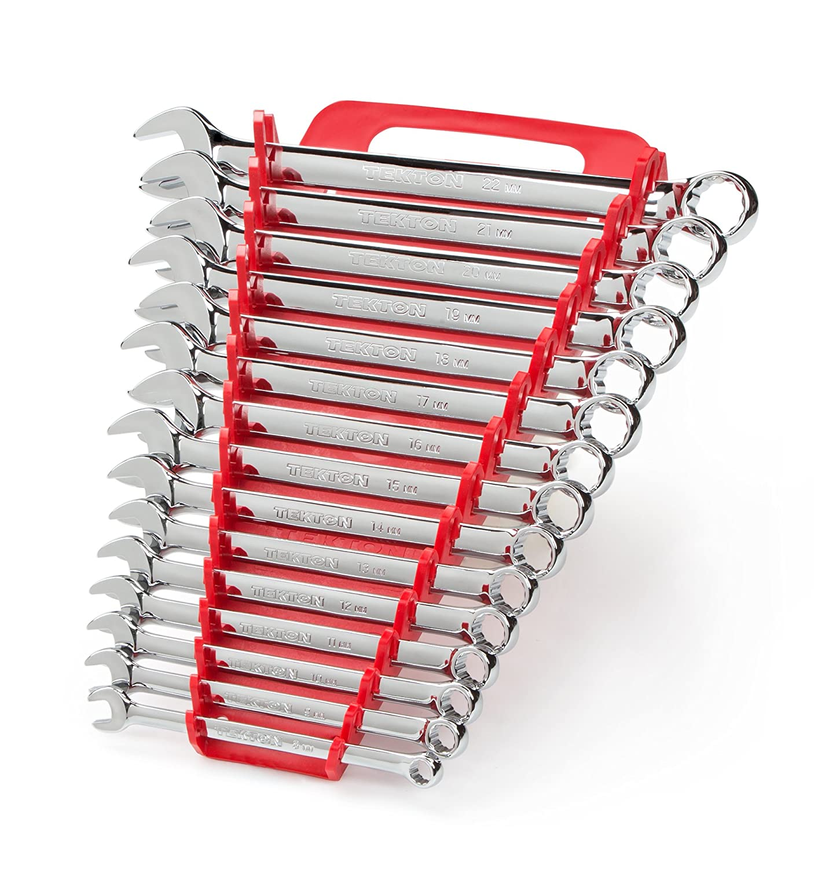 Tekton Combination Wrench Set With Store And Go Keeper Metric 8 Mm Kunci Kontak Key Verza 22 15 Piece 18792