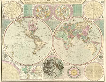 Mp60 vintage 1780 historical antique old map of world globe poster mp60 vintage 1780 historical antique old map of world globe poster reprint a3 432 gumiabroncs Gallery