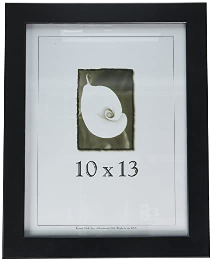 amazon com 10x13 wood picture frame black made in the usa