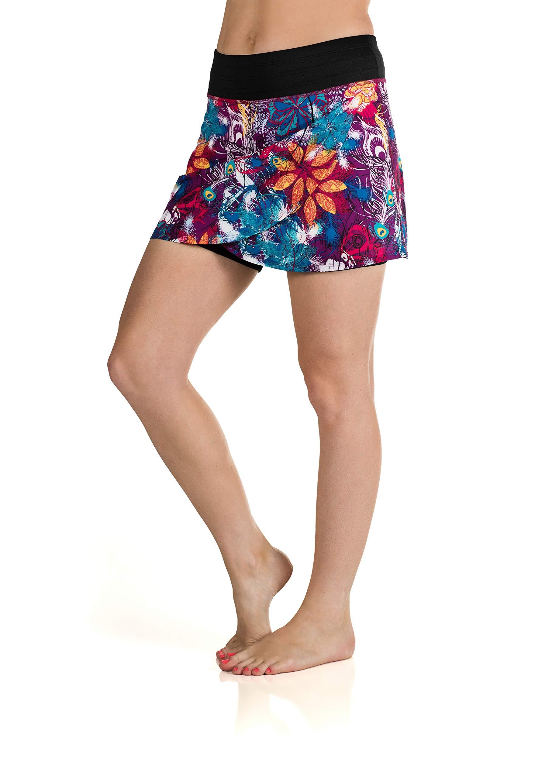 Skirt Sports Women's Hover Skirt, Tempered Tantrum Print, X-Large by Skirt Sports