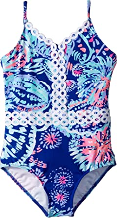 4fac419336 Lilly Pulitzer Kids Baby Girl's UPF 50+ Mals Swimsuit (Toddler/Little Kids/