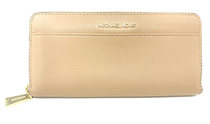 62a37732cddb Michael Kors Leather Zip Around Continental Wallet Oyster  Amazon.co.uk   Clothing