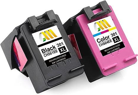 CMCMCM Remanufacturado Cartucho de Tinta Reemplazo para HP 301 XL 301XL para Deskjet 2540 1510 2050 1050 1000 3050 1050a Envy 4500 5530 Officejet 4630 2620 Impresora: Amazon.es: Electrónica