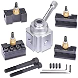 JWGJW 120034 Tooling Package Mini Lathe Quick Change Tool Post & Holders Multifid Tool Holder (Color: Silver and Black)