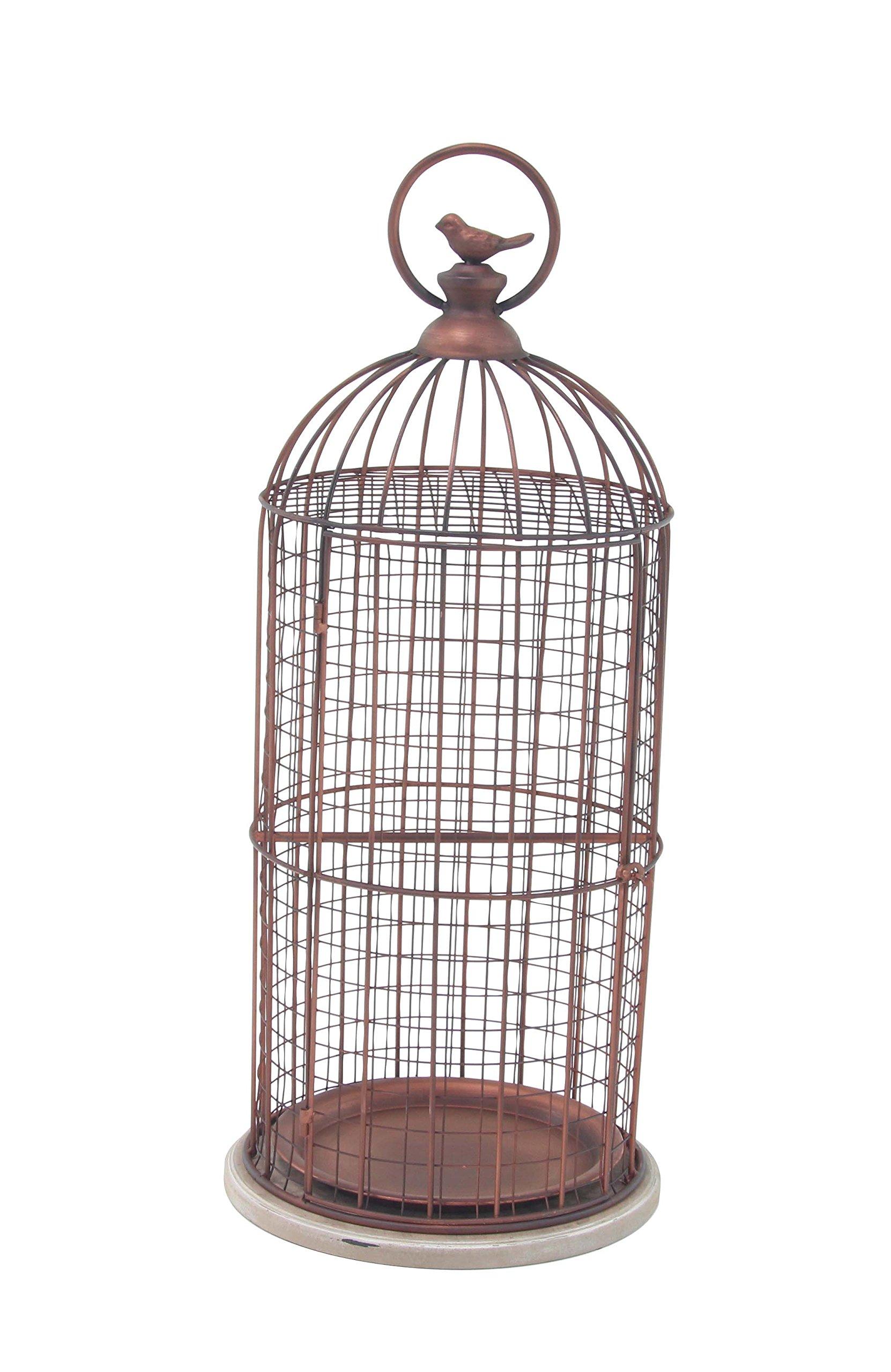 Deco 79 94673 Decorative Bird Cage, Bronze/White by Deco 79