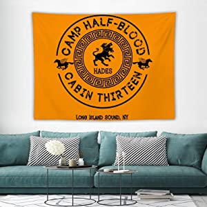 ComicsCabin Thirteen - Hades - Percy Jackson - Camp Half-Blood Tapestry Wall Hanging Art Tapestry for anime Home Decoration Bedroom Decor Living Room Door Curtain Balcony Sheer Room 60×80 inches