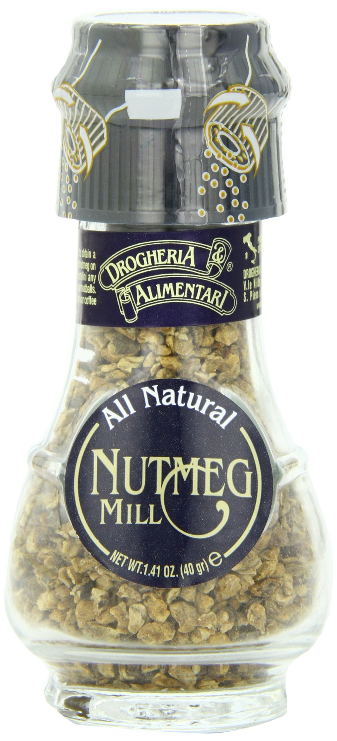 Drogheria & Alimentari All Natural Spice Grinder Nutmeg, 1.41-Ounce Jars (Pack of 3)