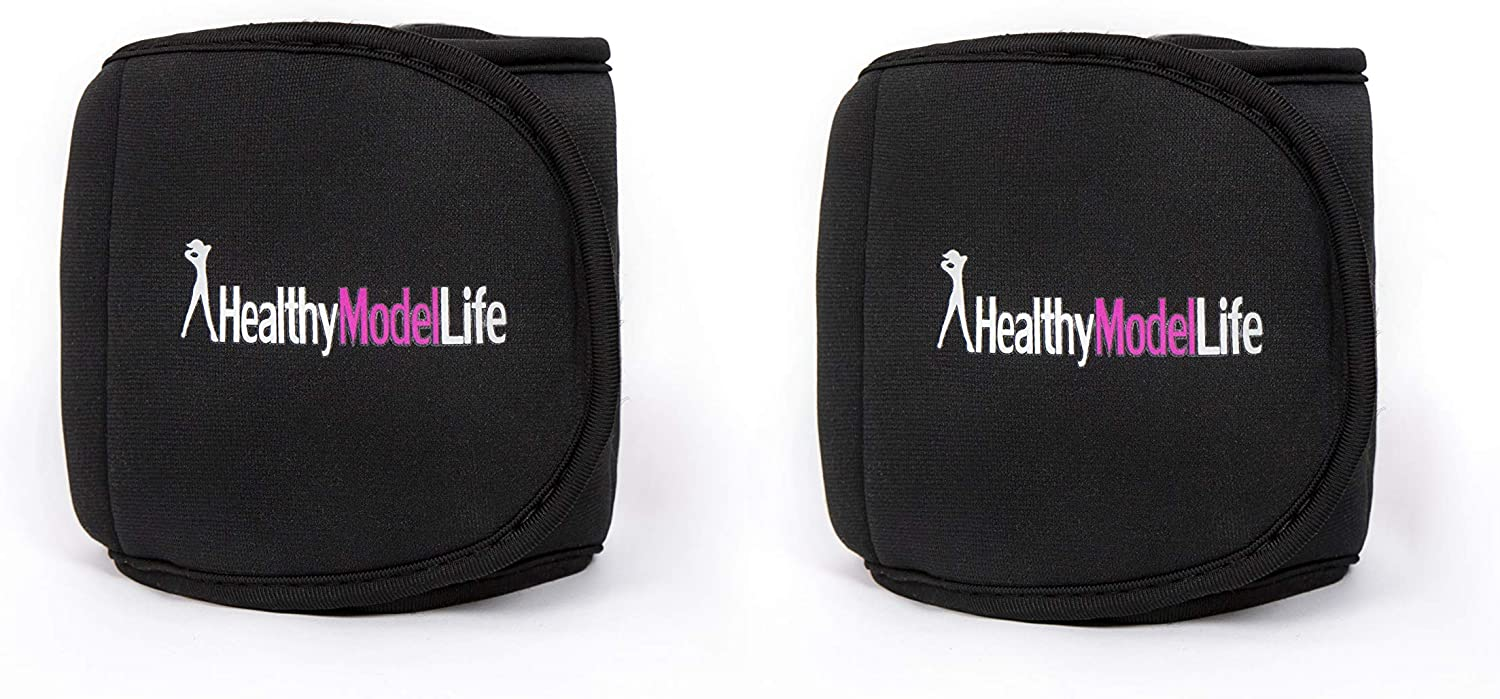 HEALTHYMODELLIFE Ankle Weights Set by Healthy Model Life – 1lb, 2lb, 5lb and 8lb Sets – As Worn by Victoria Secret Angels – Used in Top Gyms in New York