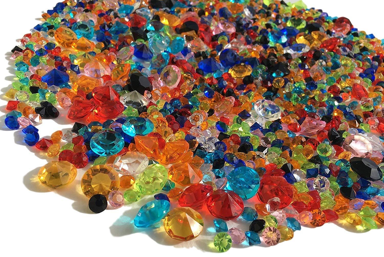 2000Confetti decorativi Diamanti parati 11mm + 5mm + 3mm gltzer pietre tavolo decorativa con Strass per decorare pietre decorative di Crystal King