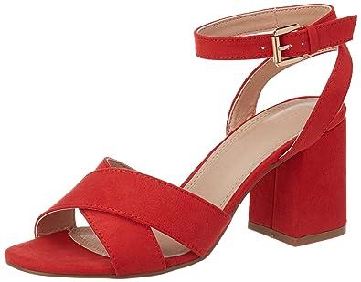 Talons Taille Pimkie Sandales Femme Rouges Carrés À 40 BerCdxoW