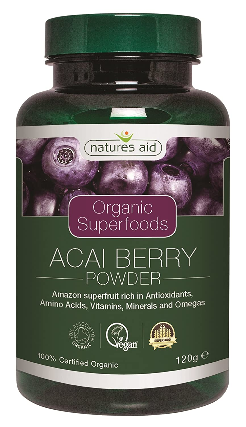 Natures Aid 120 g Organic Acai Berry Powder by Natures Aid   B019QDNHR4