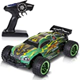 SGILE Super Fast RC Toy Cars, Electric Off Road Vehicle petrol Buggy Racer, Rechargeable Remote Control High Speed Monster SUV with 4WD Rock Crawler for Kids Toddlers (Green)