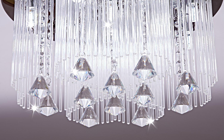 Vingo Led Kronleuchter Modern Deckenleuchte Kristall ~ Saint mossi moderne k kristall regentropfen kronleuchter