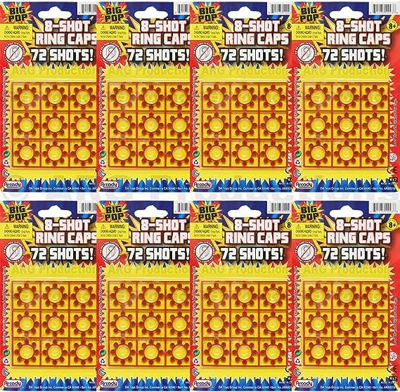 8 Shot Ring Cap 4 Cards - 72 Shots 288 Shots Total