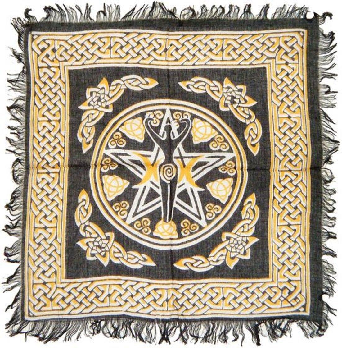 """Pentagram Goddess Altar Cloth 18""""x18"""""""