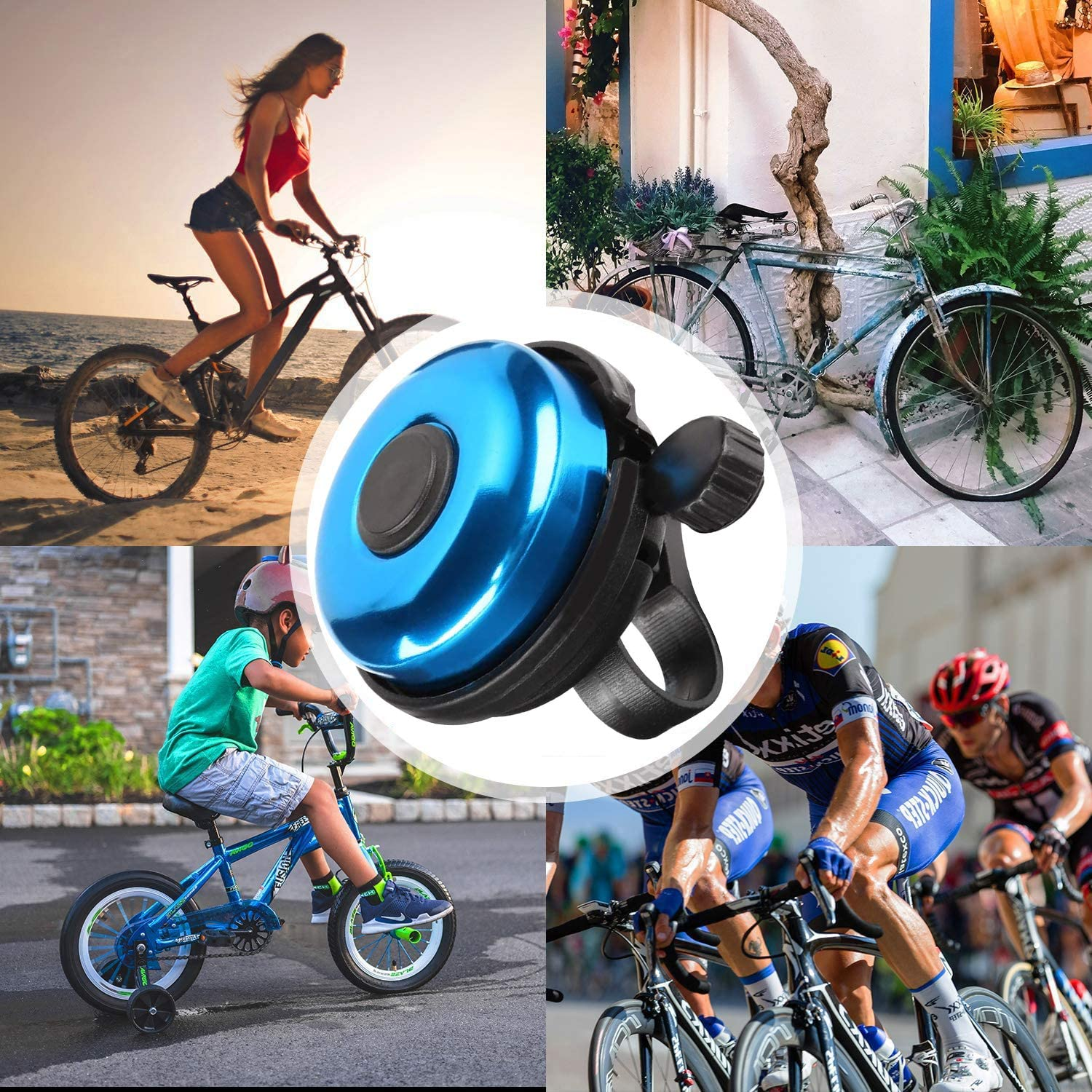Classic Bicycle Bells Musment Bicycle Bells Aluminum Alloy Bicycle Bells Bicycle Bells with Loud and Clear Sound for Adults and Children