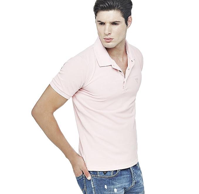 Guess - Polo - para hombre rosa rosa XL: Amazon.es: Ropa y accesorios