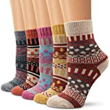 wool socks, Ambielly women socks winter socks vintage soft warm for winter