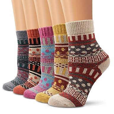 Calcetines de lana, calcetines Moliker mujeres calcetines de invierno caliente suave cómodo (5001)