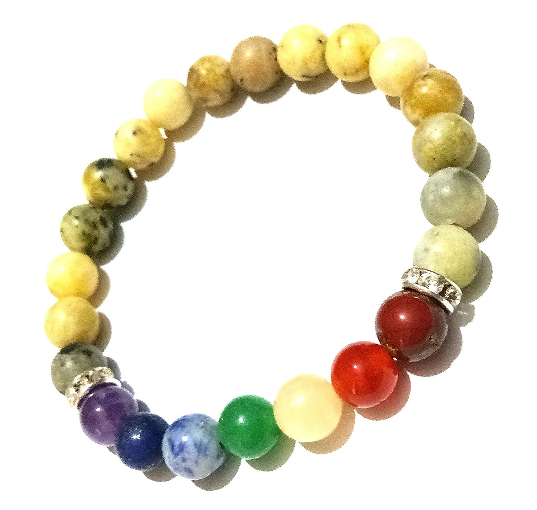 """8mm Fashion round gemstone beads stretchable bracelet 7/"""""""