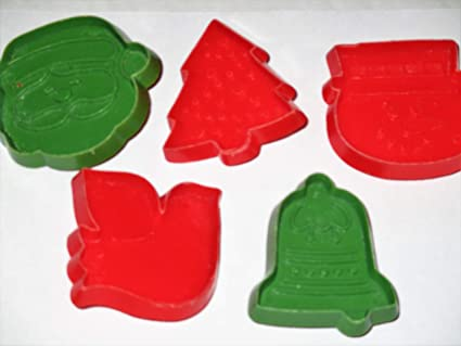 Amazon Com Hallmark Cookie Cutters Set Of 5 Dove Santa Snowman