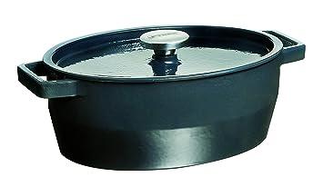 Pyrex Slow Cook - Cacerola De Hierro Fundido Oval, 33 Cm, 5,8