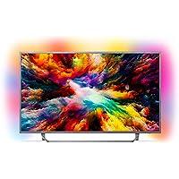 Philips  Televisor LED Ultraplano Philips 55Pus7303-55/139 cm - UHD 4K 3840X2160 - HRD+ - 20W - Dvb-T/T2/T2-HD/C/S/S2 - Smart TV - WiFi - 4XHDMI - 2XUSB, Argent