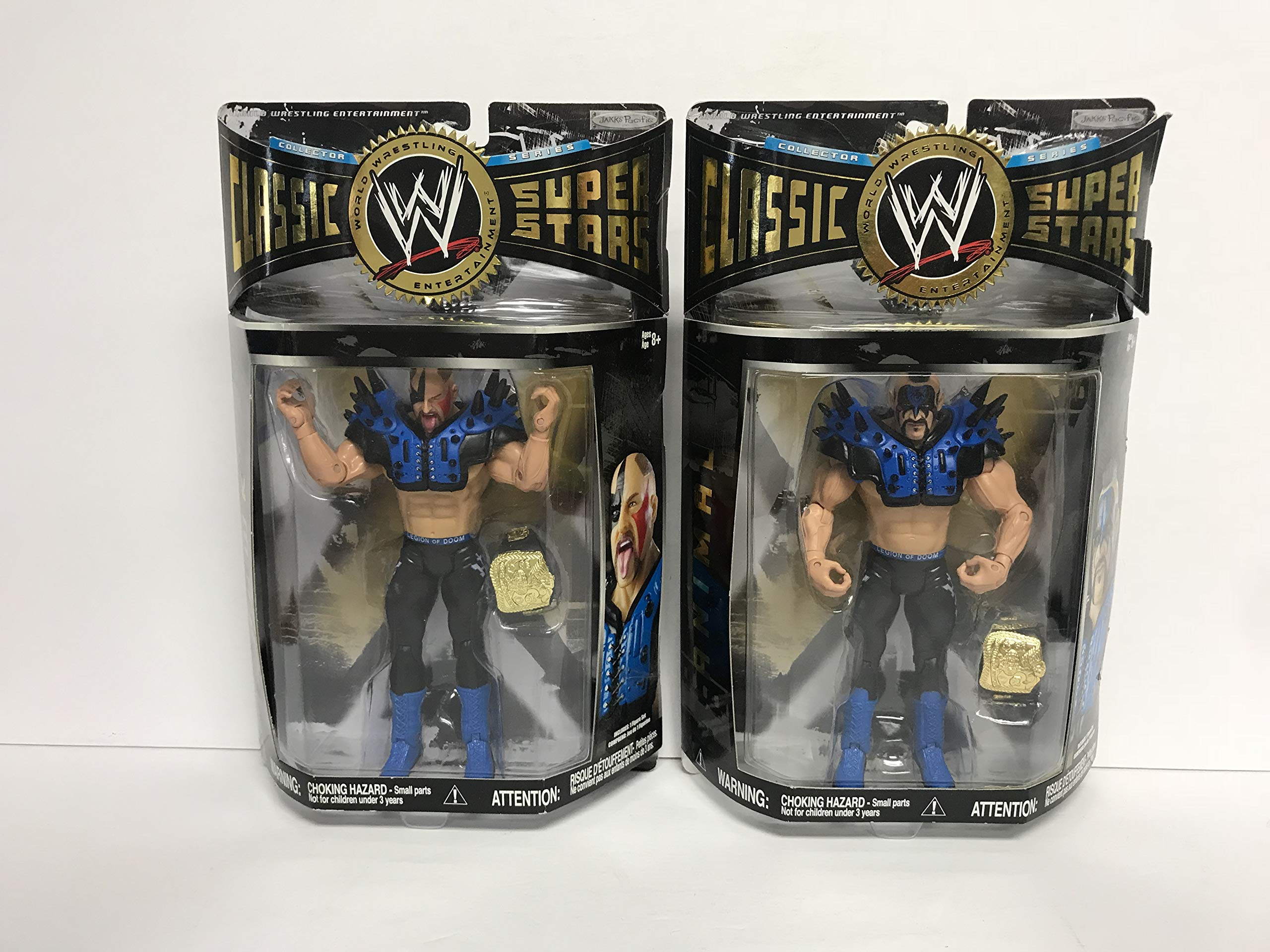 HAWK & ANIMAL Legion of Doom WWE Classic Superstars action figures with belts