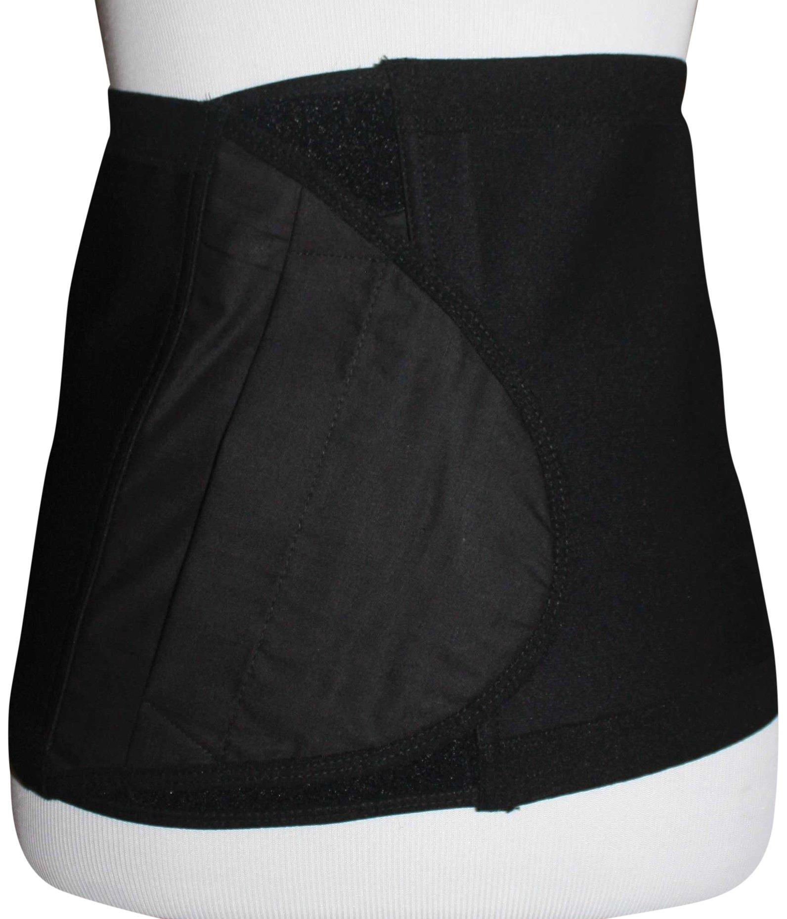 Safe n' Simple Hernia Support Belt, 20cm, Black, Large