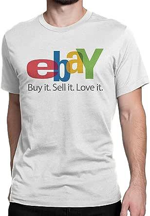 eBay White Round Neck T-Shirt for Unisex