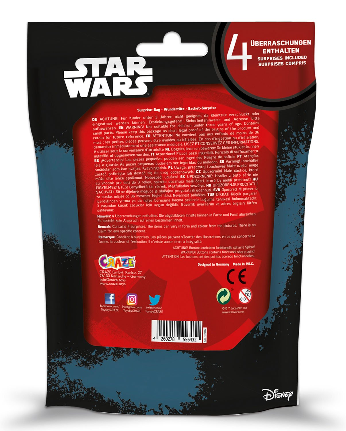CRAZE 56432 - Maravillas Bolsa Surprise Bag Star Wars ...