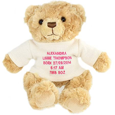 8ee78408a Personalised Teddy Bears (Pink Embroidery)
