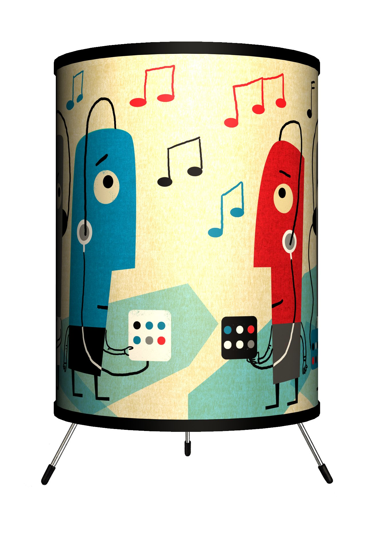 Lamp-In-A-Box TRI-FAR-JYMUS Featured Artists James Yang''Music'' Tripod Lamp, 8'' x 8'' x 14''