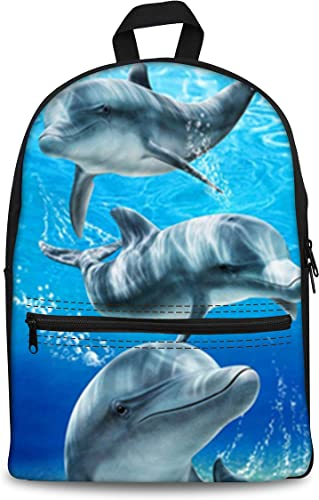 chaqlin Dolphin Canvas Bookbag Backpack