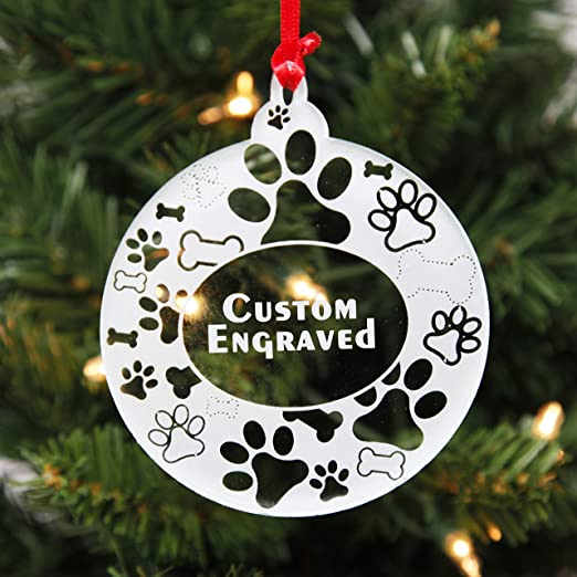 Clear Christmas Ornaments 2020 Amazon.com: Personalized Dog Christmas Ornaments for 2020 | Clear