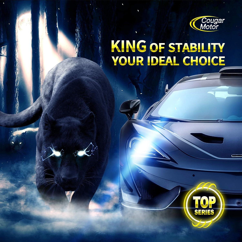 LED Headlight Bulbs Super Bright 12000Lm 6500K Conversion Kit Cougar Motor Flagship 9005 HB3 Cool White CREE