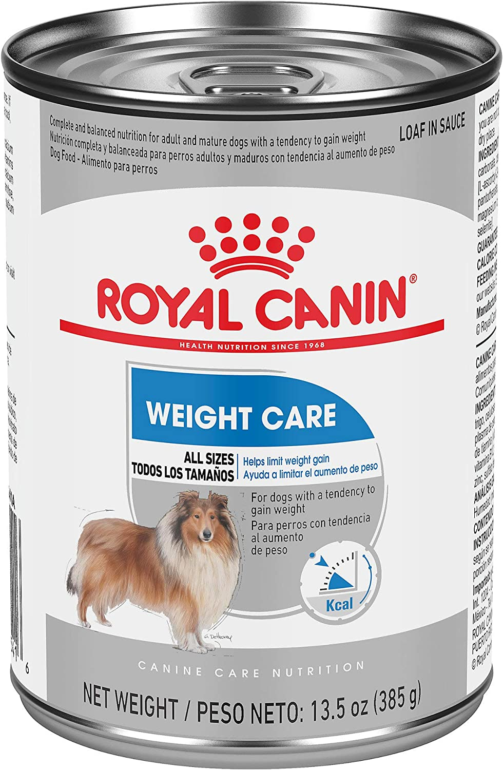 Royal Canin Canine Care Nutrition Weight Care Loaf in Sauce Canned Dog Food, 13.5 oz, Case of 12, 12 X 13.5 OZ