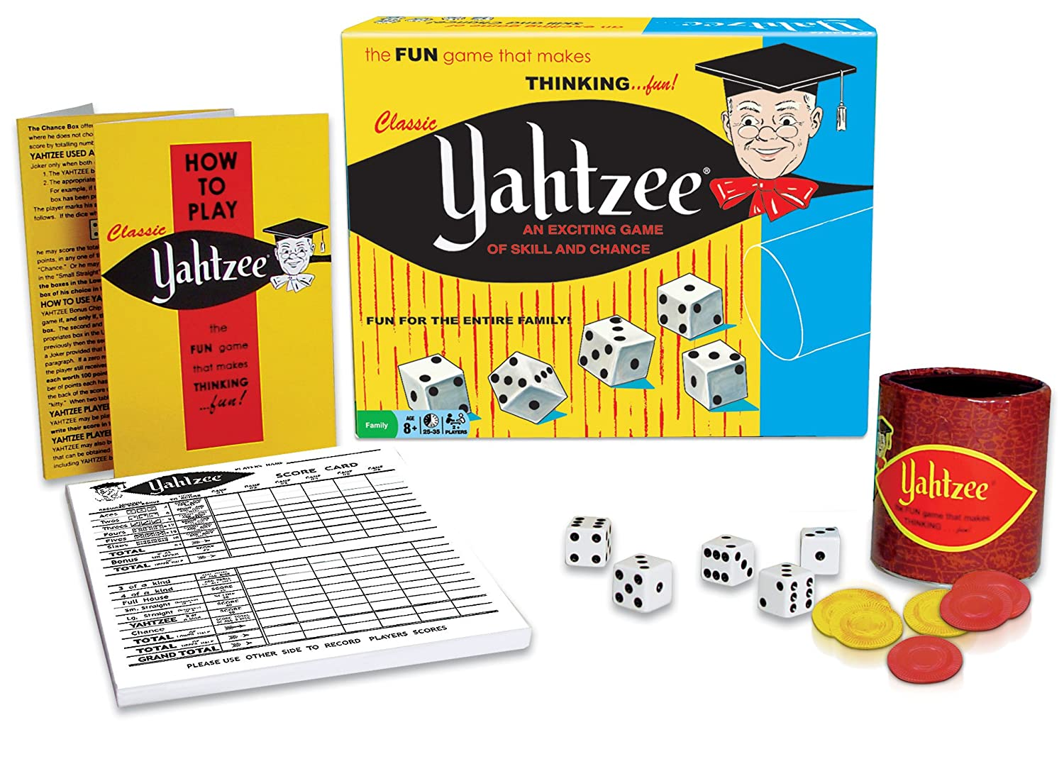 classic yahtzee game for kids and adults family