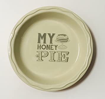 The Country Collection u0026quot;My Honey Pieu0026quot; 8 inch Ceramic Pie Plate | Off : 8 pie plate - pezcame.com