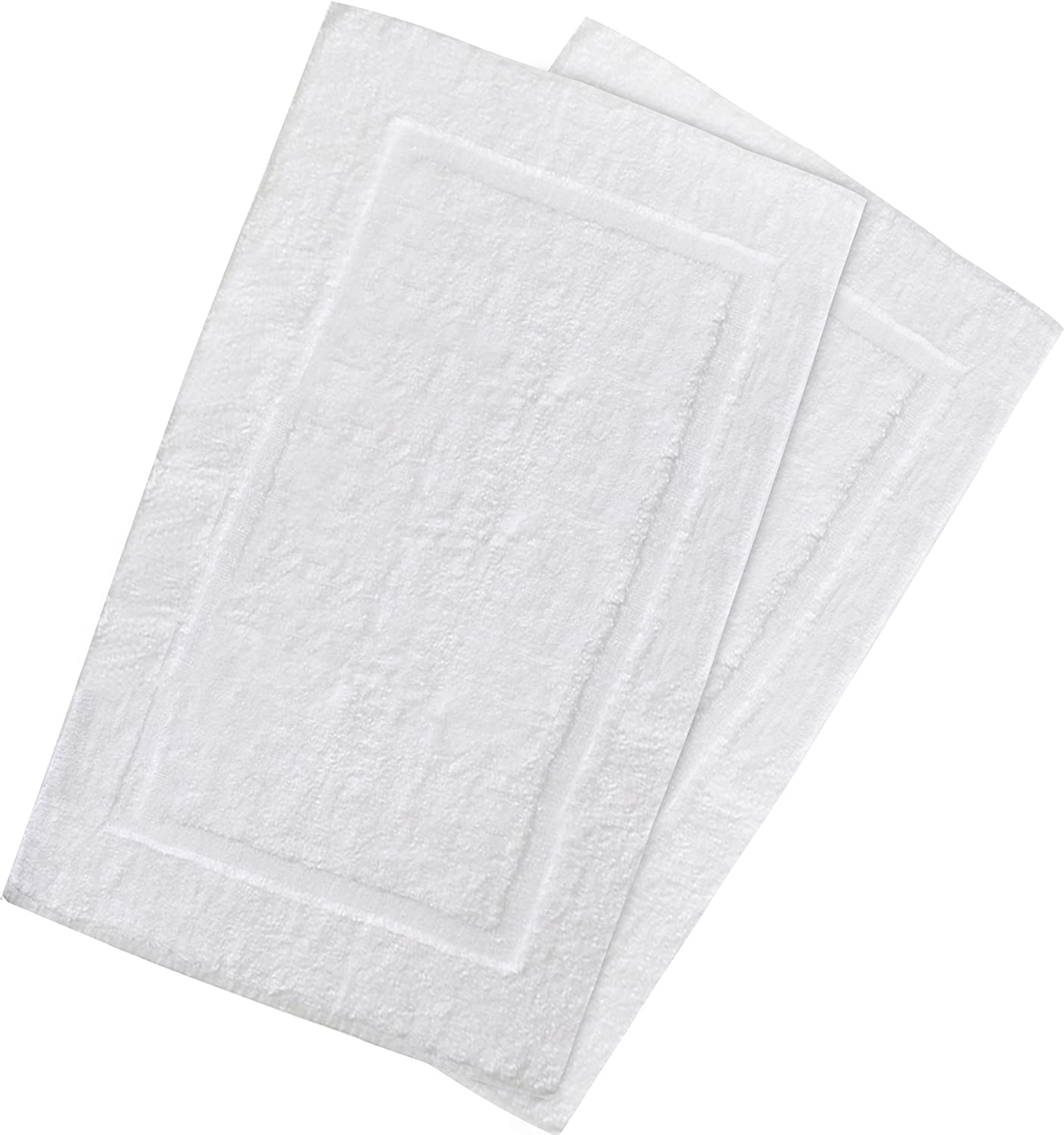Utopia Towels 21-Inch-by-34-Inch Cotton Washable Bath Mat  2 Pack  White SYNCHKG031176