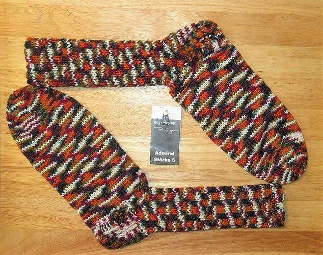 Calcetines tejidos a mano/calcetines autoadhesivos/calcetines de lana/Schoppel / Almirante/
