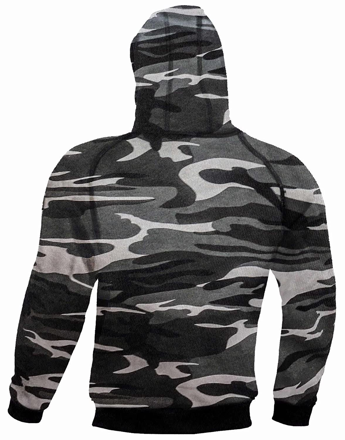 Armoured Hoodie Motorcycle Motorbike Summer Hoody Jacket Zip Up Removable Armor Bikers Camouflage Red Size = 5X Large