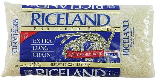 Riceland - Bolsas largas de arroz blanco 6/1 LB: Amazon.com ...